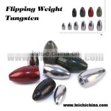 Wholesale Insert free bass fishing tungsten flipping weight