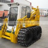 Rubber track pay China original skid steer loader by rail