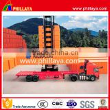 Low Price Factory 40ft 20ft Container Skeleton flat bed semi trailer top brand new trailer truck company for sale