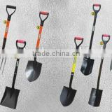 factory of various style carbon steel low price high quality Anti-Slip Grip shovel spade with fiberglass and wooden handle