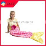 Home Pink Comfortable Kids Sleeping Bag Mermaid Tail Blanket