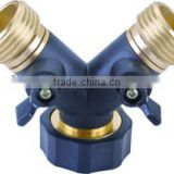 Garden Hose Splitter 2 Way Water Hose Connector metal male connector