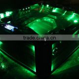 Outdoor massage whirlpool spa bath tub with LED light