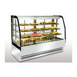 Bakery Food Display Showcase Curved Warming Showcase Closed Type 3 Shelves Different Size Available