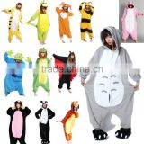 Wholesale blue unicorn jumpsuit onesie with front zipper for adult animal jumpsuit onesie unicorn