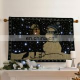 snowman christmas tapestry wall hanging