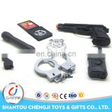 High quality police set Chinese platsic guns weapons for kids