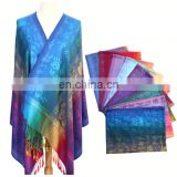 Many In Stock/Custom-make Your Own Design jacquard knitted wool scarf Pashmina Shawl