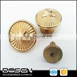 High quality customized gold tone clothing metal buttons,Eco-friendly nickle free toggle coat hole buttons