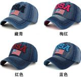 Denim USA American flag  baseball cap  peaked  cap  sun hat