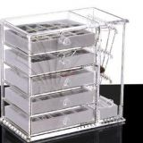 Factory Selling Acrylic Display High Quality Acrylic Jewelry Makeup Storage Organizer with Drawer