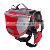 Hot Selling Wholesale Adjustable Pet Dog Outdoor Saddle bag Hiking Backpack Carrier bag Red Color