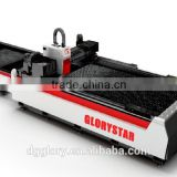 Double worktable Fiber Laser Cutting Machine for metal materials 0-25mm carton steel GS-3015C with CE Cerfitication
