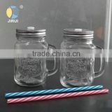 Wholesale 480ml mason jar with handle beverage glass bottle for drinking                                                                                                         Supplier's Choice