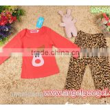 2015 new arrival infant christmas pijamas ,kids 100% cotton pyjamas ,animal kids red deer pajamas MY-IA0021