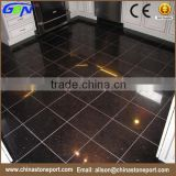 Flooring Polished mongolian living room cheap black galaxy granite Tile