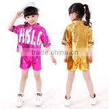 New arrival Boy Girl Hip-Hop Dance Cloth Performance clothing spandex Hip Hop Dance Wear kids modern dance costume