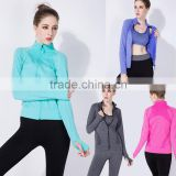 (OEM/ODM Factory)Spandex jackets/women yoga lightweight jacket women tights activewear wholesale hoodies