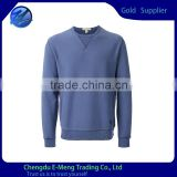 High Quality Mens Long Sleeves Crew Neck Plain Sweathirts in Light Blue