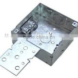 "4""Square Steel Box Deep 1-1/2 high with braket(metal outlet box)"