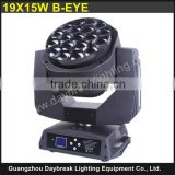 b eye k10 19*15w rgbw 4in1 moving head light E-EYE , k10 B-EYE Zoom , flight case moving head light , powercon in/out AC110-240V