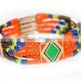 Round neon colorful bead bangle vintage bohemia Jewelry Handmade round bracelets Bracelet For Women bangles female from india