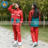 High Visibility safety pvc ladies raincoats with hoods