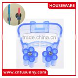Plastic mop and broom holder in different color