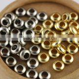 JS1213 High Quality Matte Metal Gold Silver Rondelle Spacer Beads,Dull Polish Matt Spacer Beads
