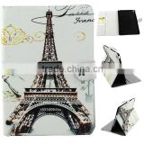 Eiffel Tower pattern tablet leather case for ipad air2 with Credit Card Slots & Holder