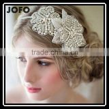 Top Quality Real Luxurious100% Handmade Crystal Pearl Bridal Headhand Tiara Bridal Hair Jewelry Wedding Hair Accessories