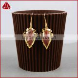 Handmake Indian agate jasper arrowhead hoop earrings latest new model fashion earrings