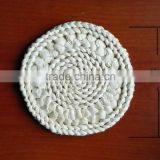hand made weaving placemat wholesale dining decorative round woven pot holder corn husk straw mats