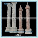 large hand carved chinese stone column with dragon