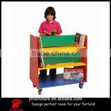 small size mobile storage rack kindergarten children book shelf for kids