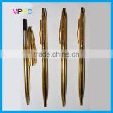 Corporate Promotional Gift Pen Golden Color Plated Metal Twist Action Ball Point Pens