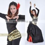 2011 new style black belly dance tops