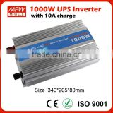 1000W 12v 24v dc to ac 110v 230v home ups Inverter With 10A Charger