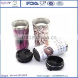 Eco-friendly Thermal Insulated Coffee Cup With Paper Insert 280ml Starbucks Thermos Coffee Tumbler