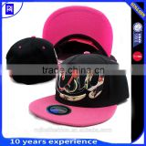 fashion custom 5 panel snapback cap/hat/ High quality 3d embroidered digital printing 5 panel caps