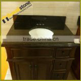 Hotel Bathroom Vanity Tops Fabricated Indian Galaxy Black Granite