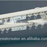 Small Size Aluminum Alloy Double Curtain Pole White Double Curtain Rod With Curtain Rail Brackets