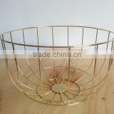 Wholesale popular gold wire fruit basket stand for anything