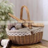 New Wholesale cheap handmade custom Laundry Basket Wicker Storage Basket for gift Picnic Basket
