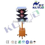 Hot selling kutuo mobile solar traffic light 300mm trolley mobil traffic solar panel signal light