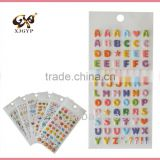letter puffy sticker