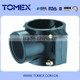 160*1 size pvc pipe fitting saddle clamp with screw