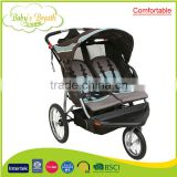 BS-49A comfortable easy folding 2016 double baby stroller and carrycot model