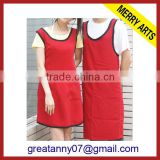 hight quality products custom made red aprons kitchen sink apron for slaughterhouse