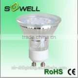 Hot sales 220-240V 3W/4W 2835SMD 12PCS GU10 LED lamps, 3000K Glass 30000H LED lights made in China